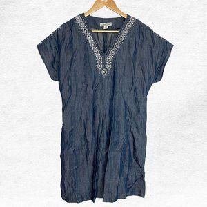 Coldwater Creek Medium Petite Denim Mini Dress